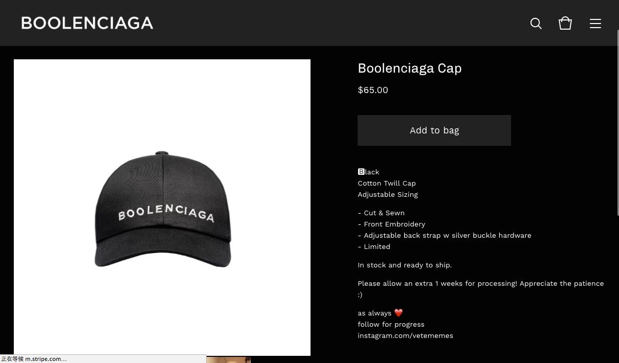 Boolenciaga Cap