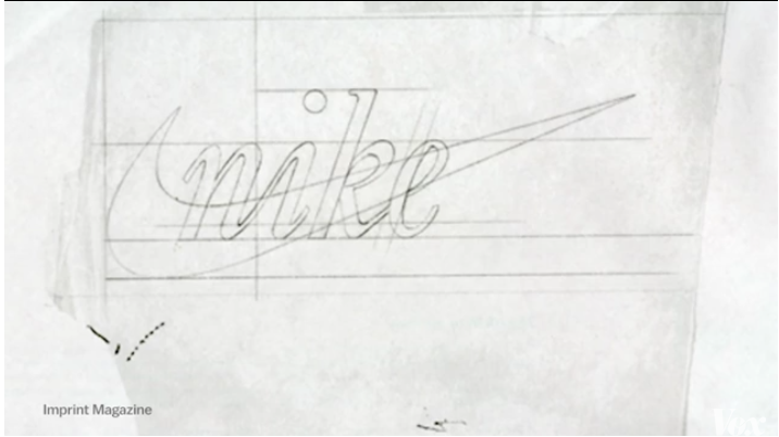 Nike Logo設計手稿