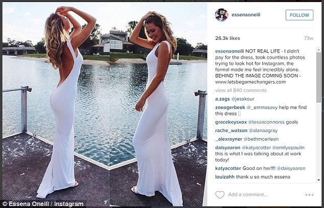 19歲的澳洲女模Essena O'Neill的IG