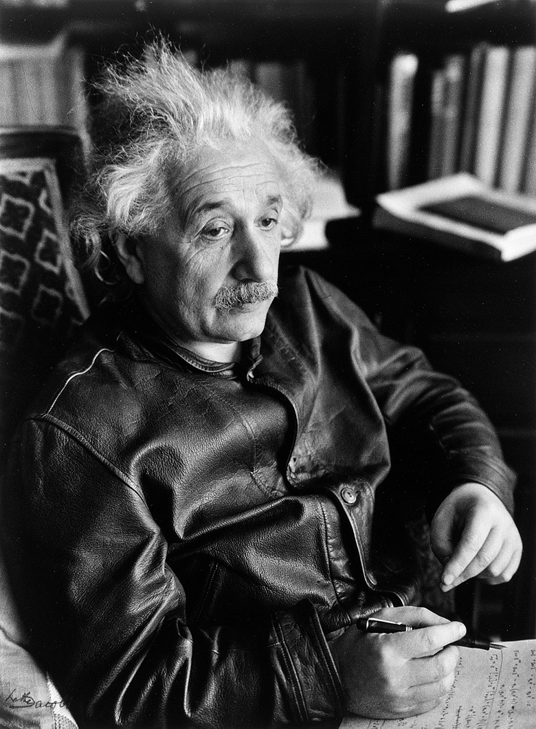 albert-einstein-wearing-brown-leather-cossack-jacket