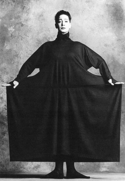 Ellen Van Schylenburch in Issey Miyake Dress, 1986
