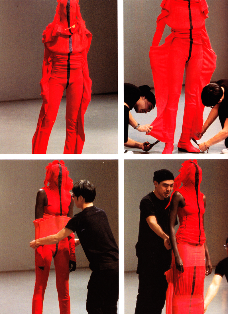 Issey Miyake and Dai Fujiware, Images from A-POC (A Piece of Cloth) Making, 1999