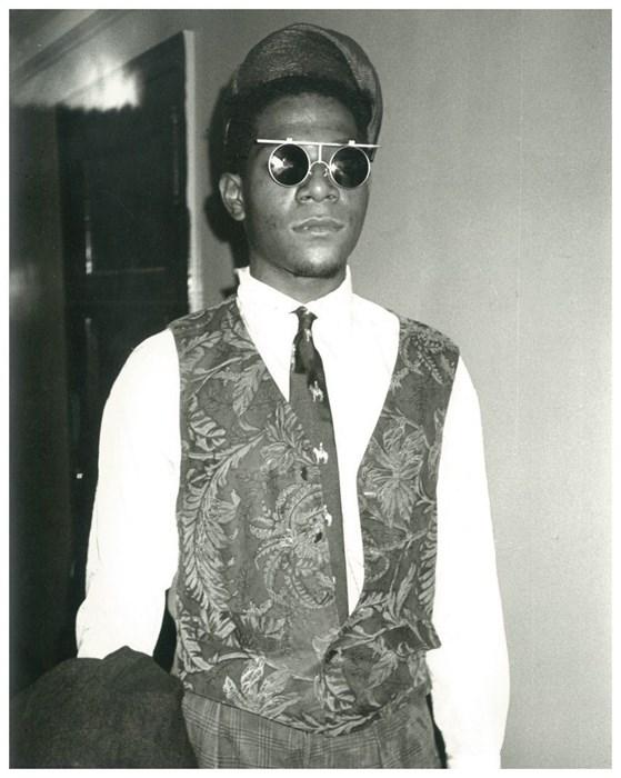 Jean Michel-Basquiat wearing Issey Miyake