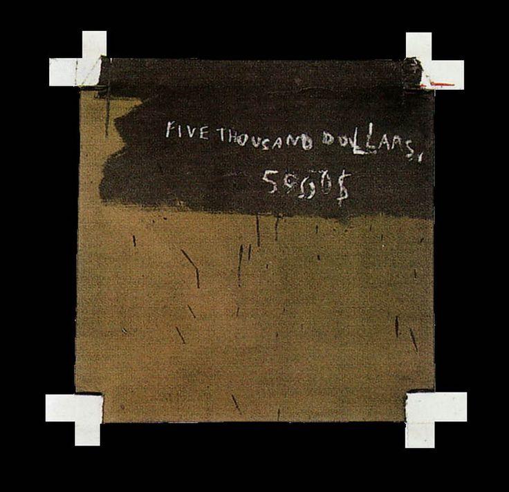 """5000$"" Jean-Michel Basquiat, 1982"