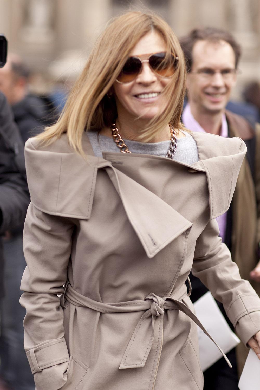 Carine Roitfeld穿上Margiela 2008 F/W 翻領風衣