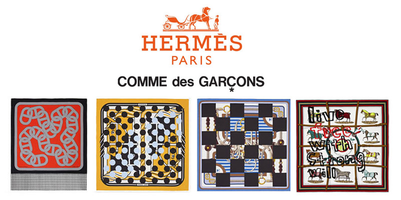 Comme des Gsrcons X Hermes via Highsnobiety