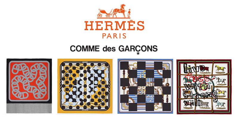 Comme des Gsrcons X Hermes via Highsnobiety