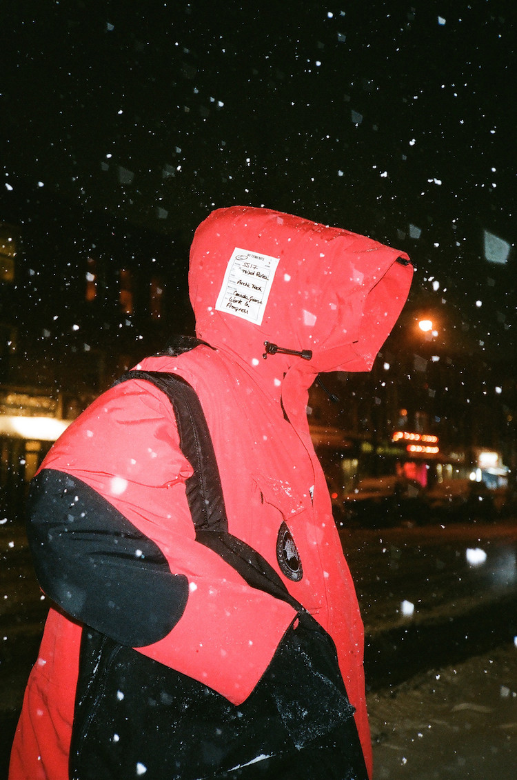 Mike the Ruler in Vetements x Canada Goose via Ssense