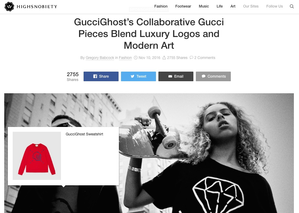 Gucci x Highsnobiety