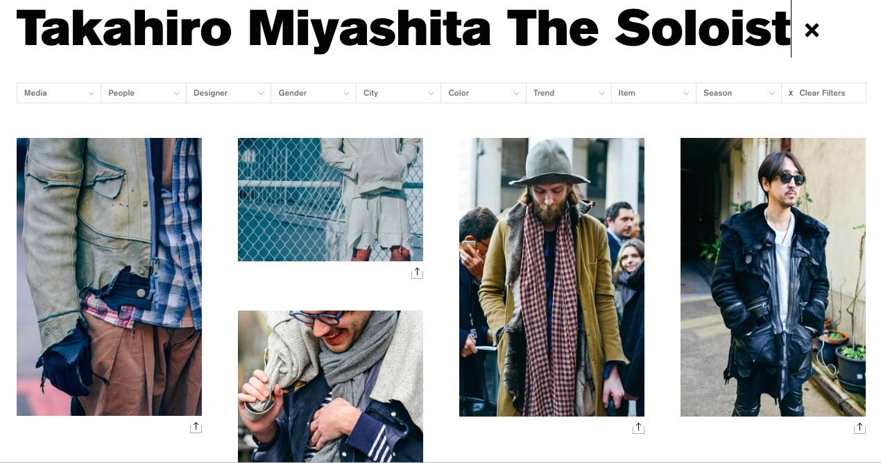 TAKAHIROMIYASHITA The SoloIst via Tommy Ton