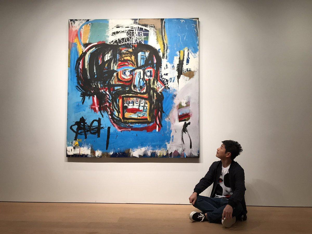 前澤友作與Basquiat的畫作《untitled 無題》
