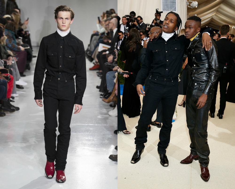 A$AP Rocky in Calvin Klein by Raf Simons