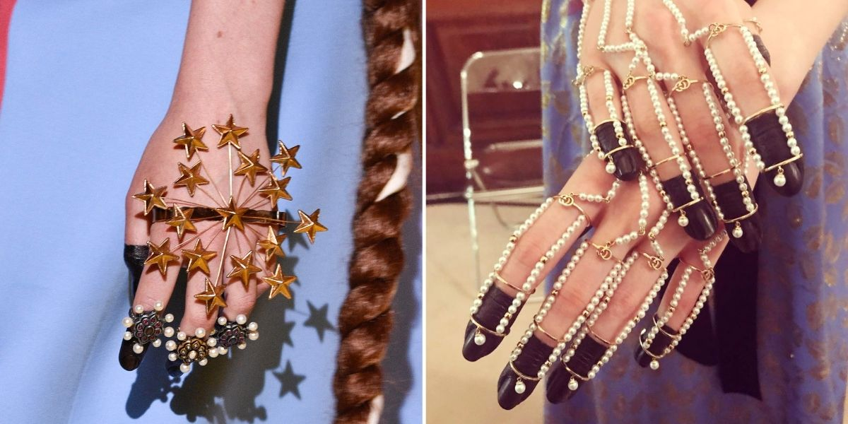 Gucci Resort Nail Art , via Harper's Bazaar