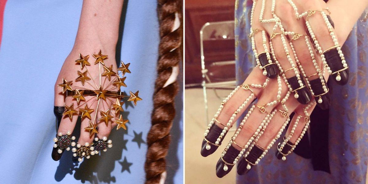 Gucci Resort Nail Art , via Harper's Bazaar