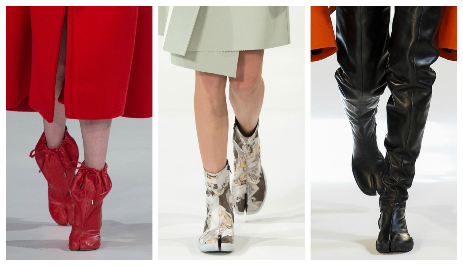 Margiela tabi boots by John Galliano