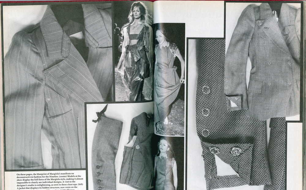 BILL CUNNINGHAM, IMAGES AND TEXT ON MARTIN MARGIELA, SPRING/SUMMER 1990, DETAILS, MARCH 1990 via http://www.fashionprojects.org/
