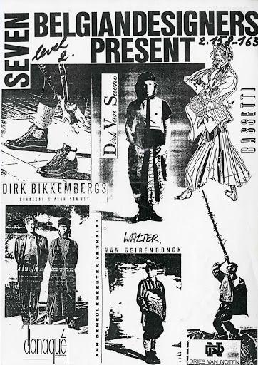 Antwerp Six 1986 British Designer Show 傳單