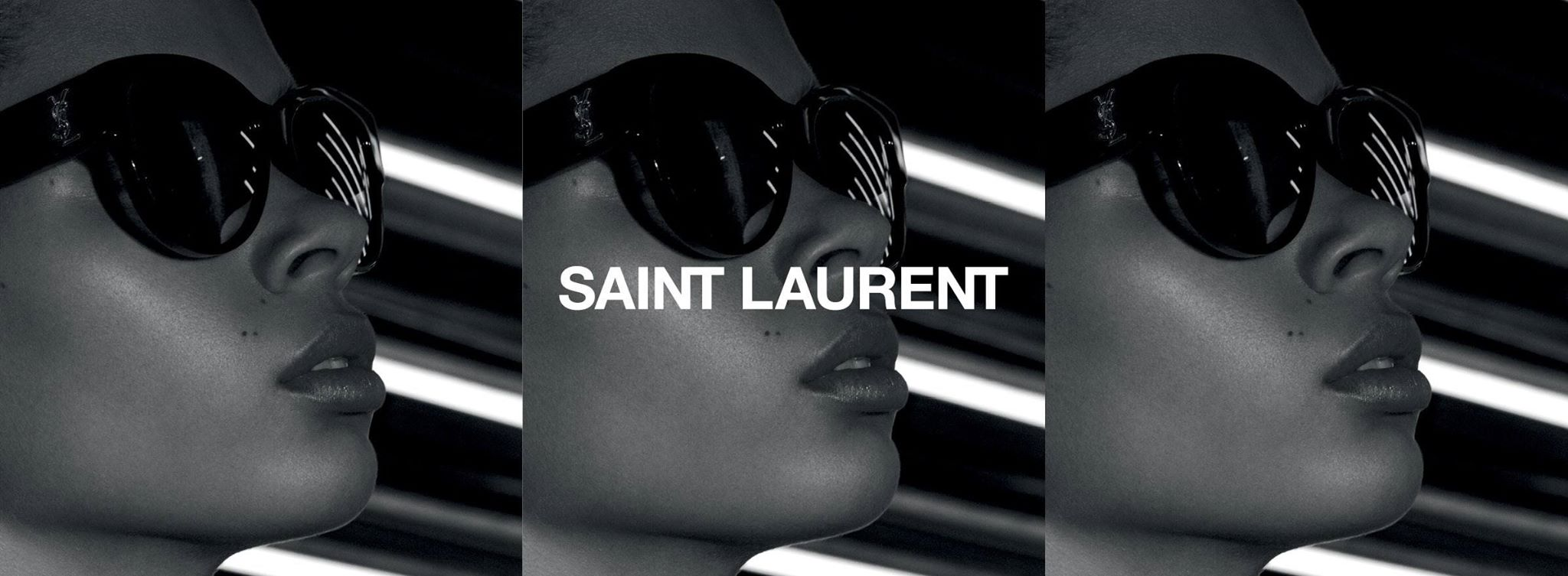Hedi Sliame為Saint Laurent Paris 拍攝眼鏡廣告。source from YSL.com