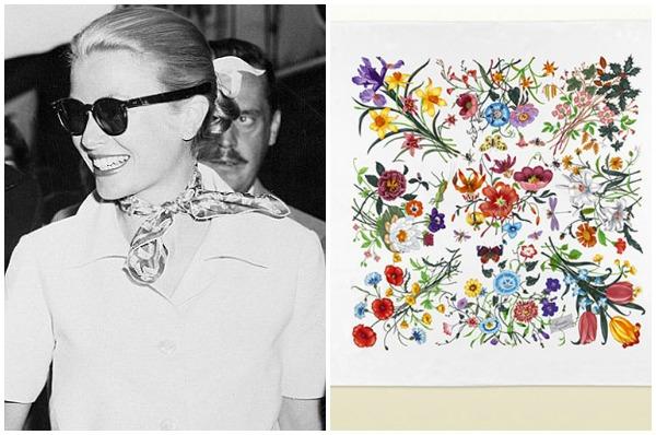 這條為贈與摩納哥公主 Grace Kelly 的絲巾,包含來自四季的花卉,亦在之後成為品牌經典之一。