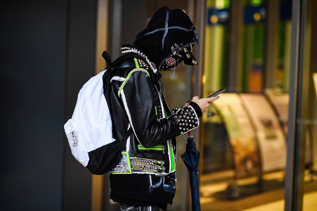 Street style at Tokyo fashion week fall 2017.