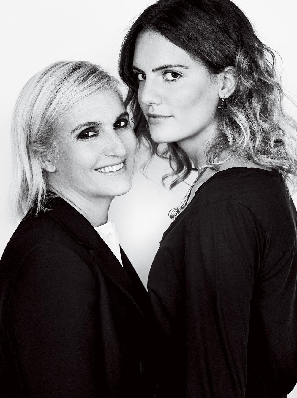 Dior 創意總監 Maria Grazia Chiuri & 女兒 Rachele Regini