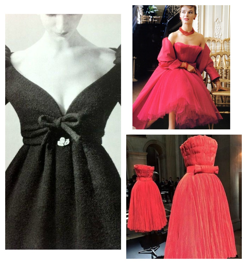 (左)by Yves Saint Laurent(1958);(右)紅磨坊裙(1954)by Christian Dior