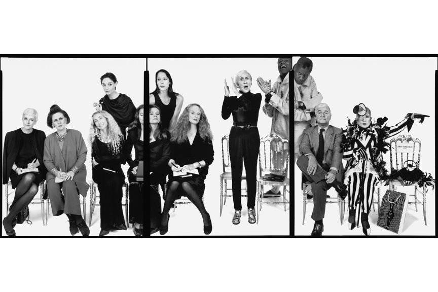 Portraits of Fashion Influencers : Suzy Menkes, Franca Sozzani, Imran Amed, Diane Von Furstenberg, Anna Wintour, Polly Mellen, André Leon Talley, John Fairchild, Grace Coddington Photo by Richard Avedon