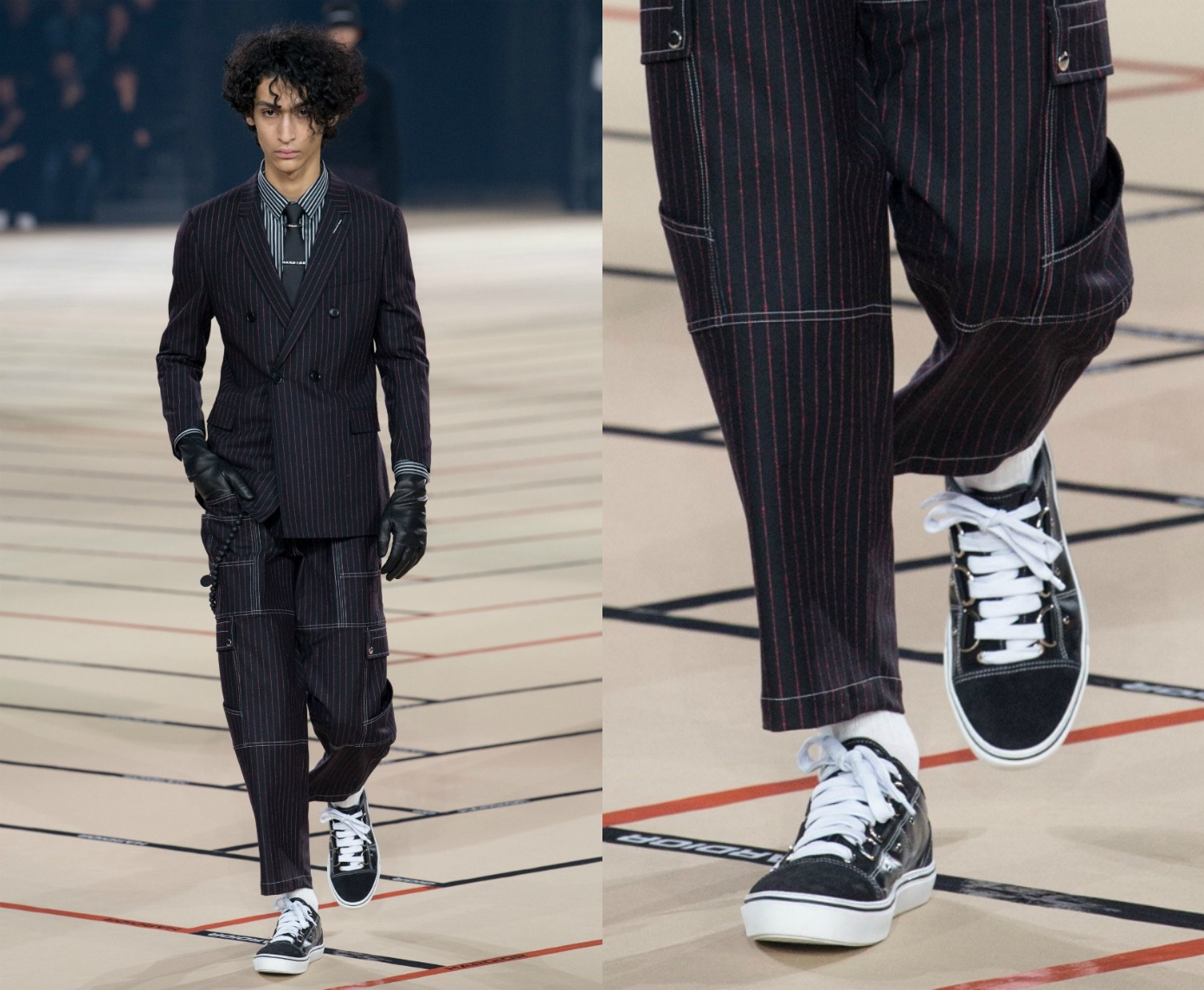Dior Homme 2017 F/W(疑似向 Vans Old Skool 致敬的)球鞋