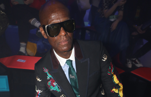 Dapper Dan front row at Gucci RTW Spring 2018 show