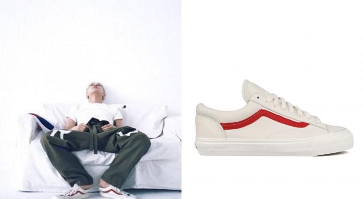 G-Dragon in Vans Style 36(Old Skool 復刻版)