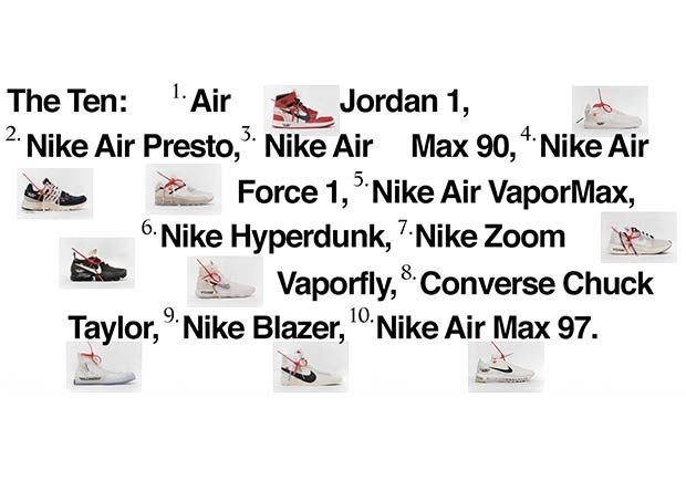 Nike Virgil Abloh The Ten