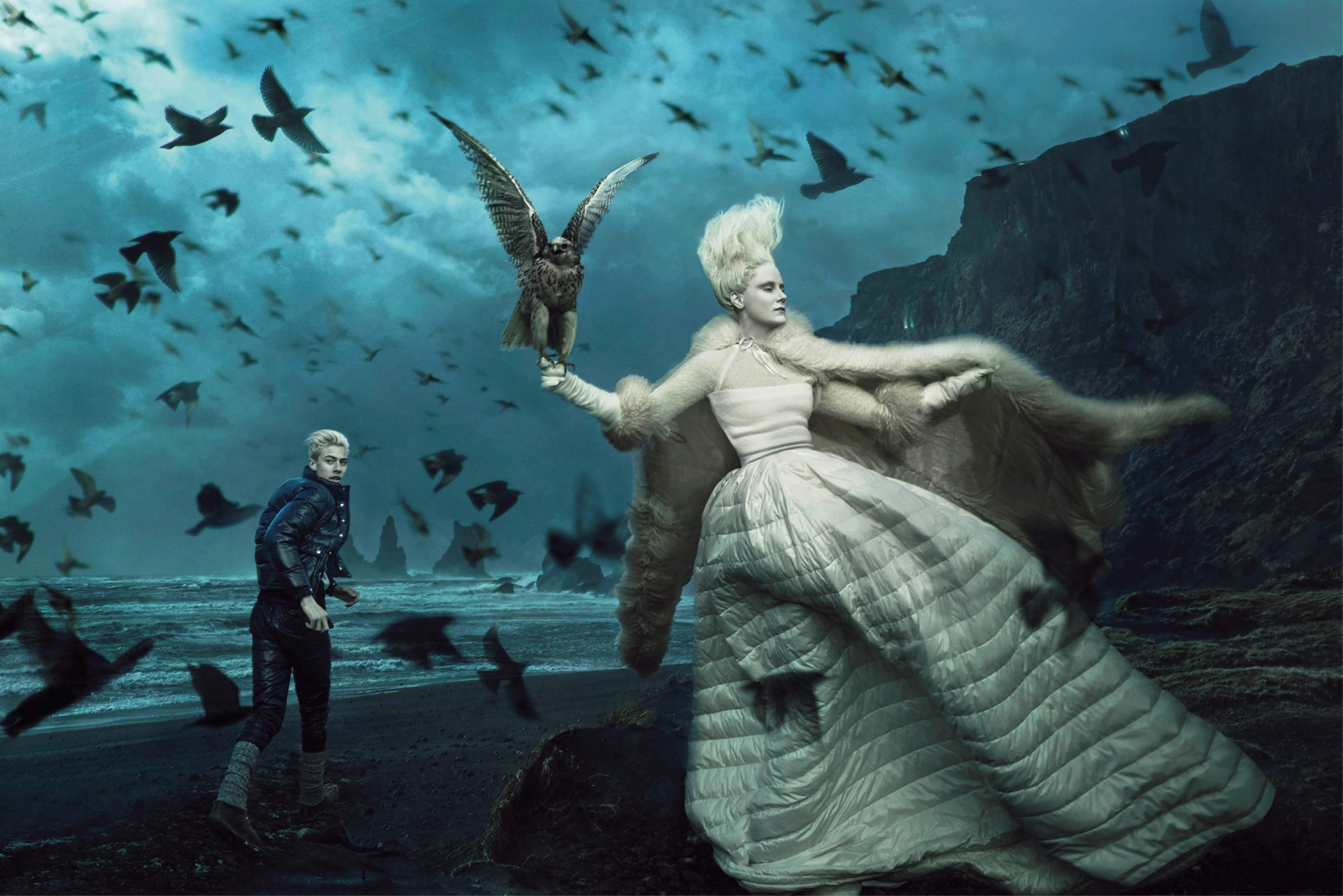 Moncler F/W 15 ad by Annie Leibovitz