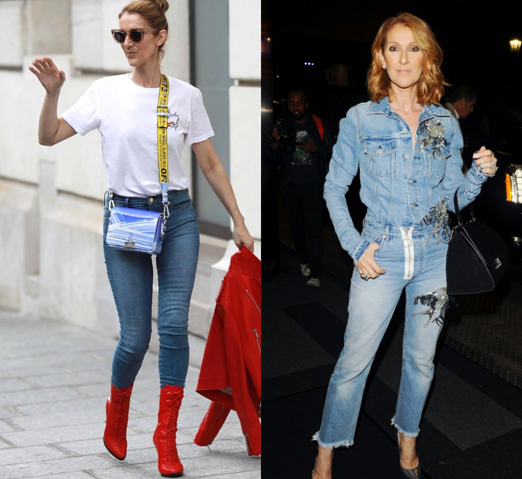 Celine Dion in Off-White
