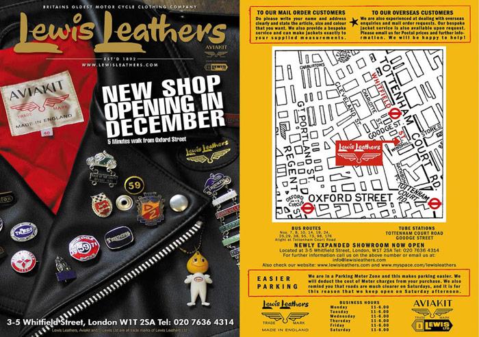 2009 年,Lewis Leathers 於 Whitfield Street 重新開幕