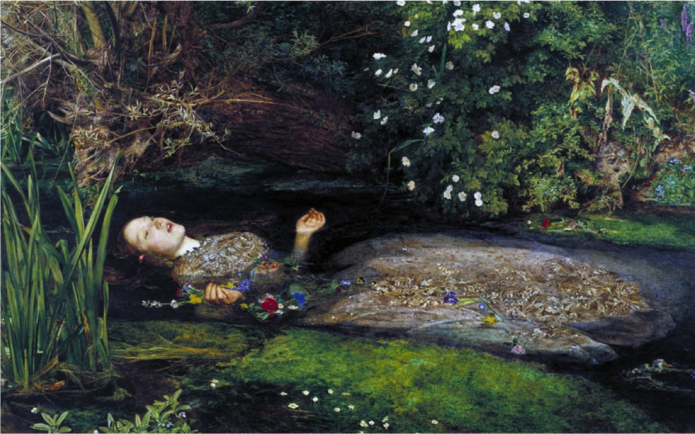 米雷 Millais John Everett 的《奧菲莉亞(Ophelia), 1852