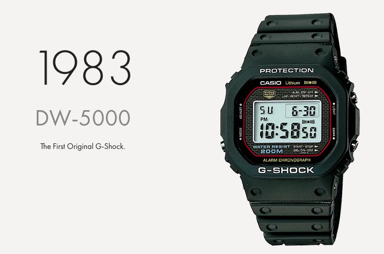 第一隻防震手錶 G-SHOCK DW 5000C