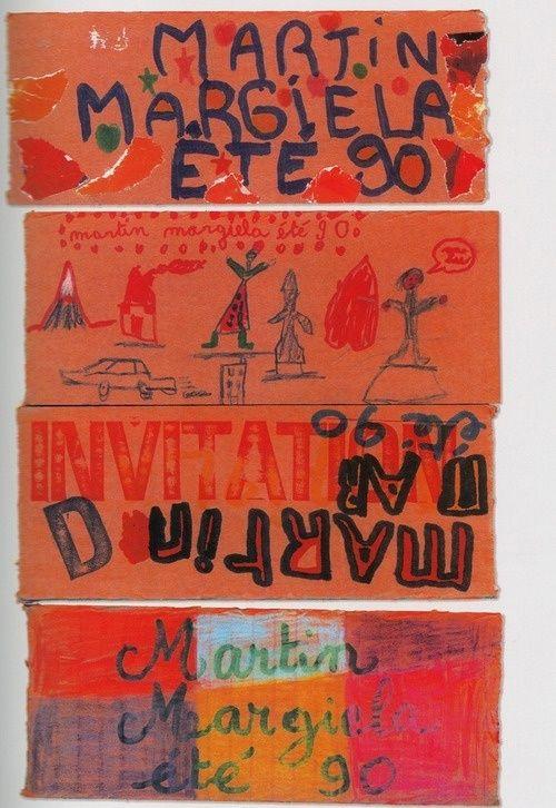 Maison Martin Margiela S/S 1990 邀請函