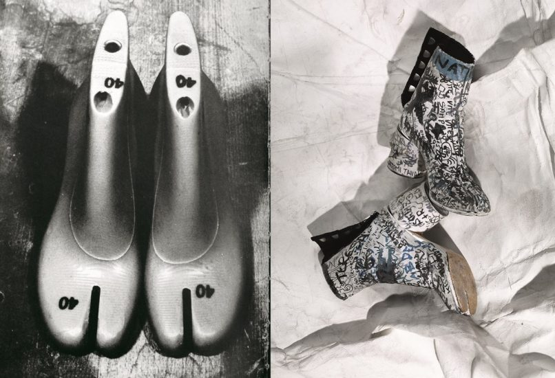 Lasts-for-the-tabi-boots-Maison-Martin-Margiela-tabi-boots-covered-in-graffiti-by-fans-at-the-Palais-Galliera-musée-de-la-mode-1991-806x550