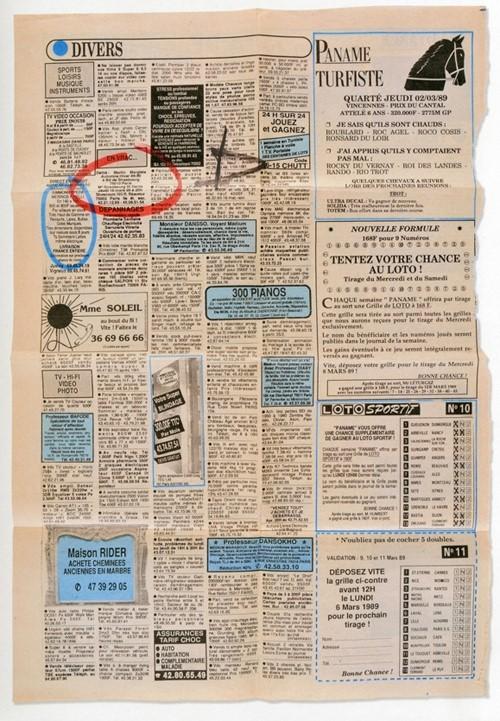 1989 年秋冬,Jenny Meirens 在免費報紙的廣告欄位上刊登了時裝秀的時間地點,當報紙出版時,團隊拿了上百份報紙沿街圈起 Margiela 的廣告並寄送出去,「這是歷來最便宜的邀請函。」