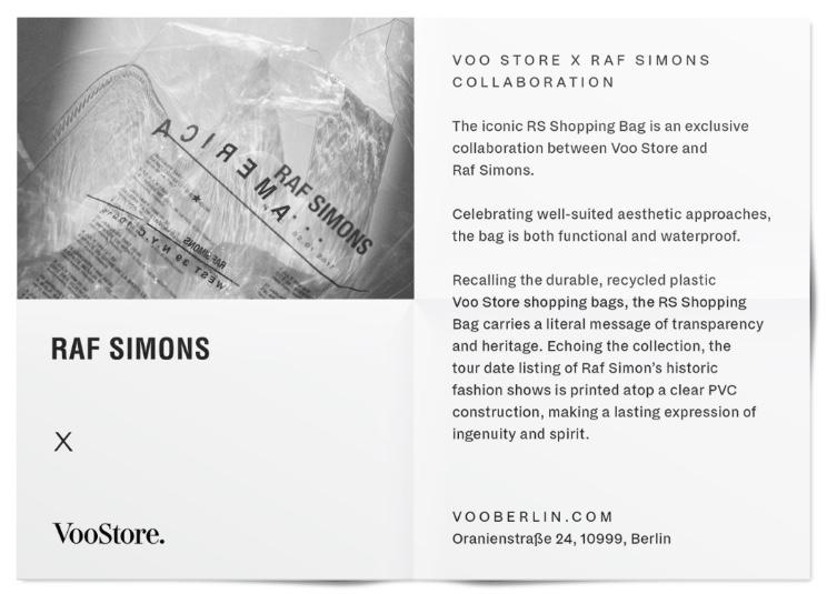 Raf Simons x 柏林選貨店 Voo Store
