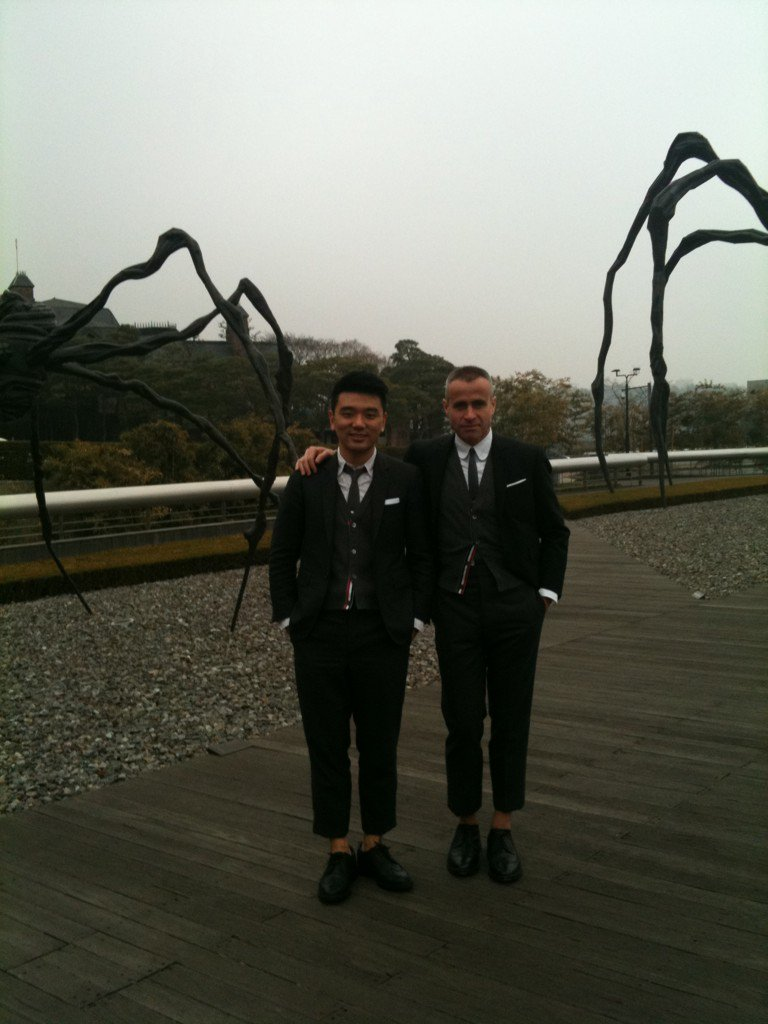 Juwon with Thom Browne, 2012