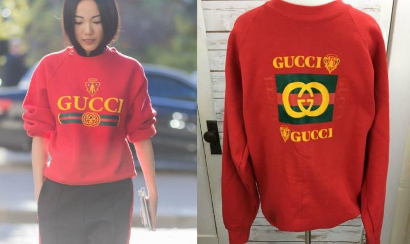 (左)時尚部落客Yoyo Cao, (右)Gucci Bootleg Vintage