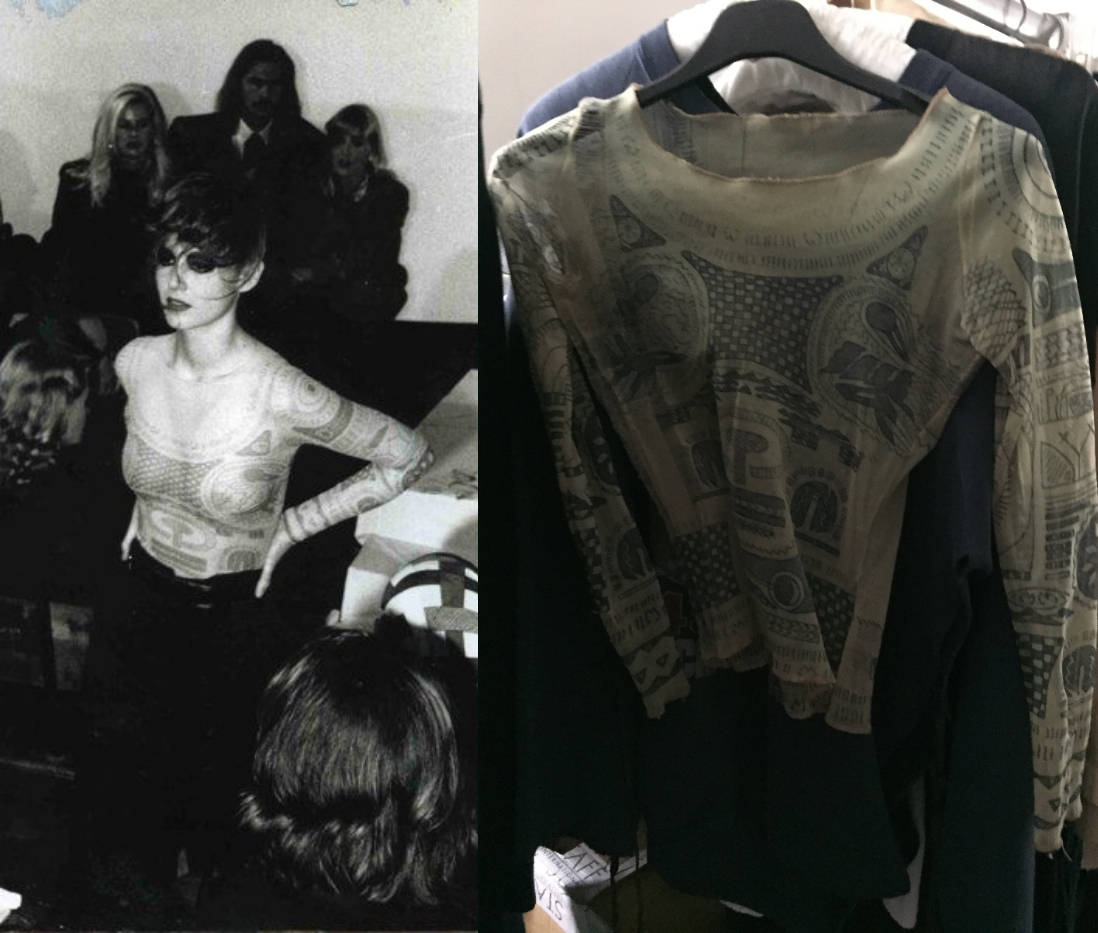 刺青衣(Silk Tattoo Top), Maison Martin Margiela 1989 S/S