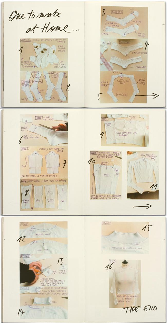 Maison Martin Margiela 擔任《A Magazine》客座編輯所教授的襪子衣製法