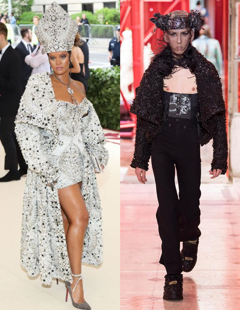 Rihanna Met Gala & Maison Margiela Men's Artisanal 2019 S/S