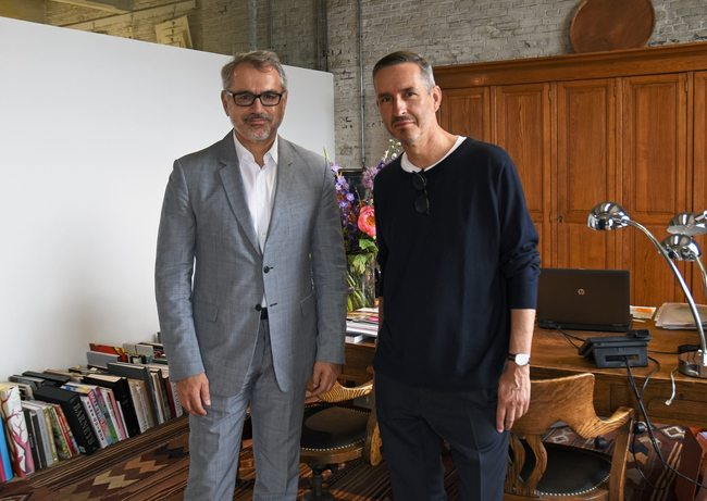 Puig CEO Marc Puig and Dries Van Noten, photo via The Fashion Law