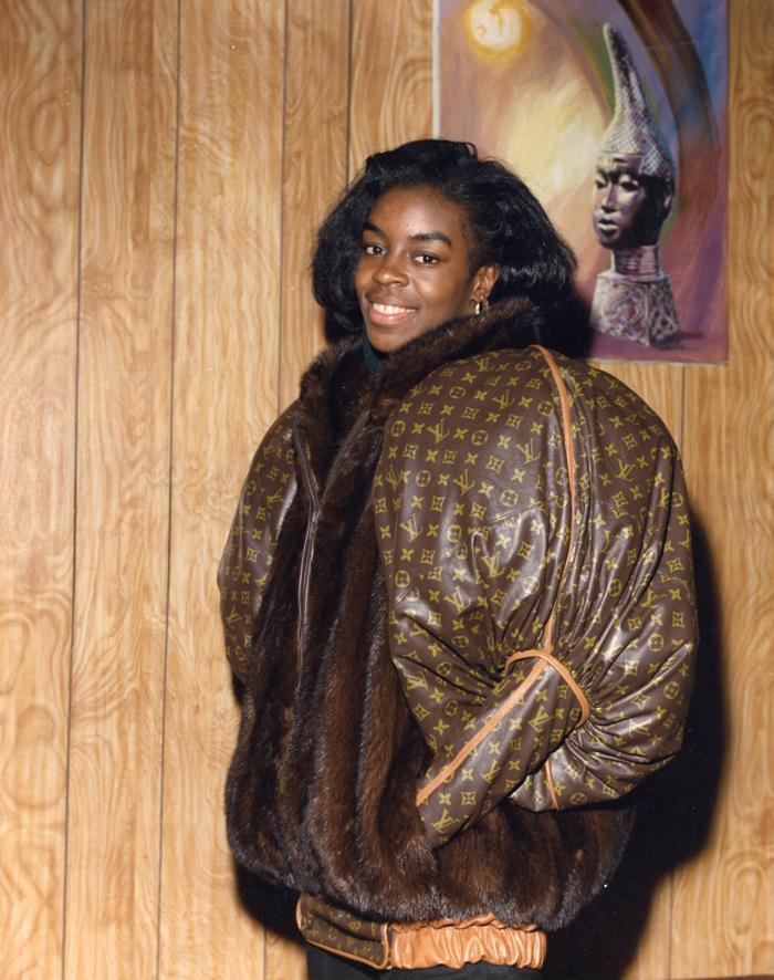 Dapper Dan 為奧運選手Diane Dixon 設計的 LV 外套。