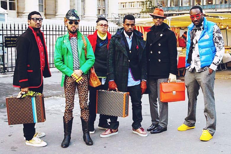Kanye West及 Virgil Abloh 前往Comme des Garçons觀秀合影