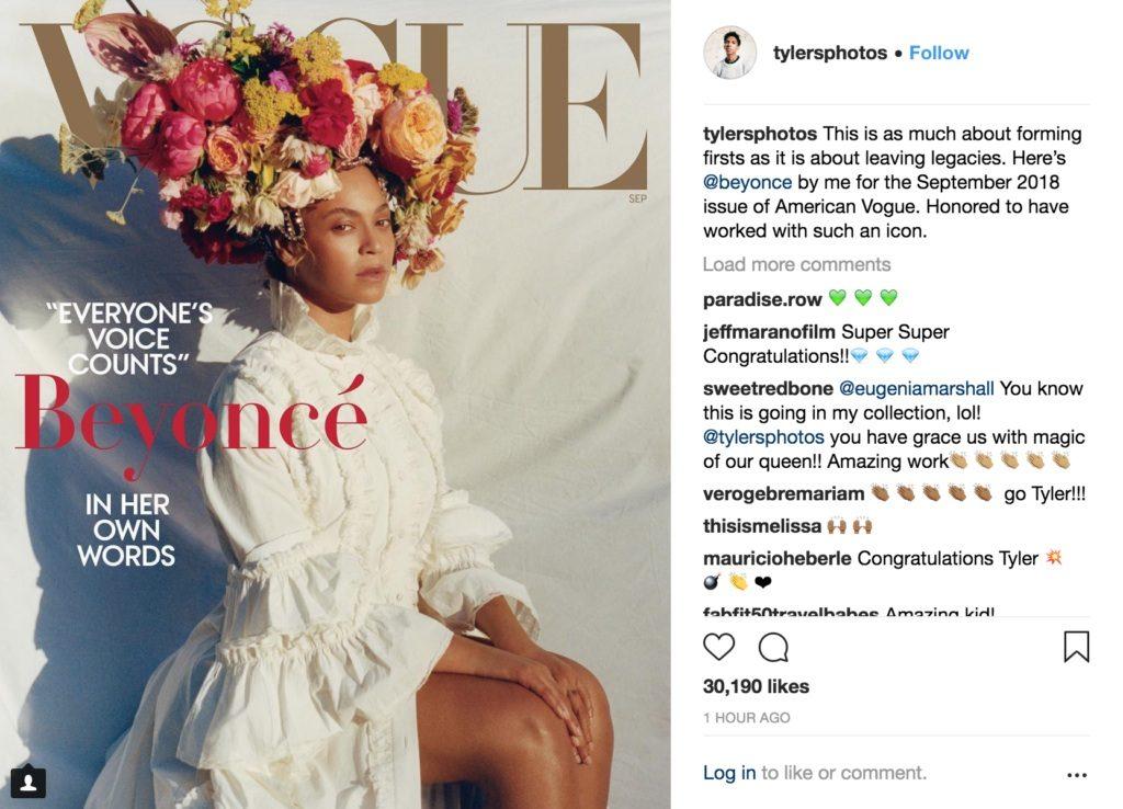 非裔美籍攝影師首度掌鏡美版 Vogue 封面